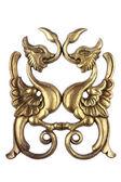 Antique golden wood ornament — Stock Photo