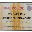 Limited parking zone traffic sign — Stock Photo