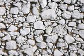 Whitewashed stone wall — Stock Photo