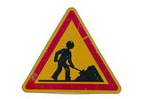 Road works traffic sign — Stock Photo