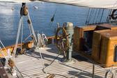 Wood sailboat — Stock Photo