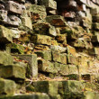 Destructed brick wall — Stock Photo