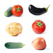 Stock Photo: Vegetables set
