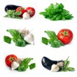 Stock Photo: Vegetables group set