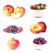 Stock Photo: Fruit & berry set