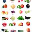 Stock fotografie: Vegetables, fruit & berry set