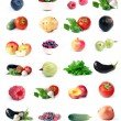 Vegetables, fruit & berry set - Stock Photo