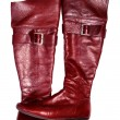 Red woman jackboot - Foto de Stock