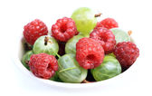 Berry in basin — Stock Photo