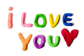 "Plasticine ""I love you"" — Stock Photo"