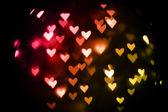 Blur Valentine heards — Stock Photo