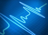 Cardiogram blue — Stock Photo