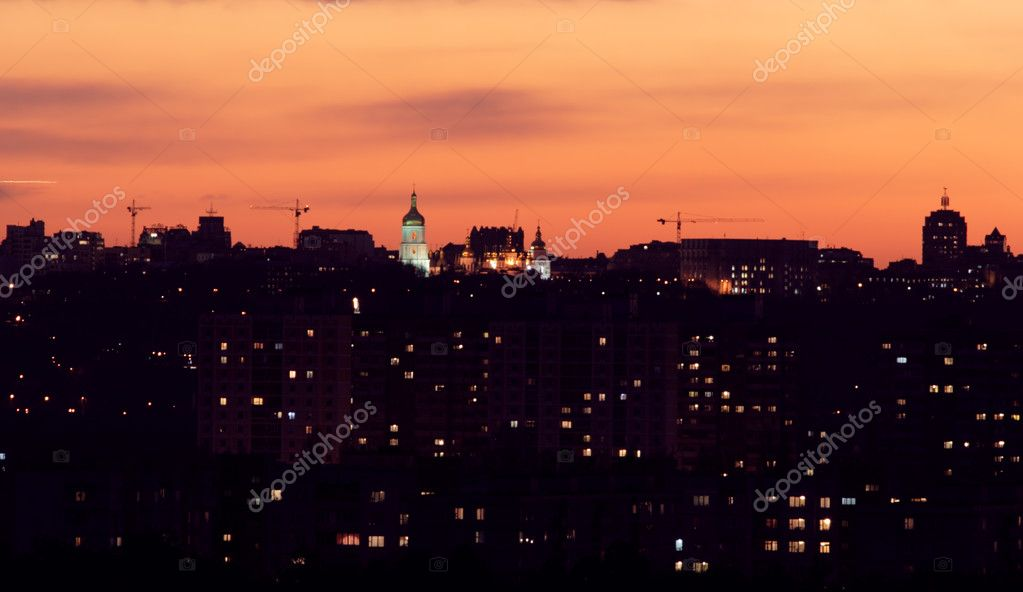 Night Kiev. View night capital of Ukraine. — Lizenzfreies Foto #2156193