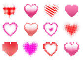 Hearts dot set — Stock Vector