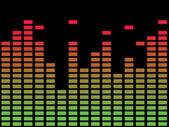 Diagramma di musica — Vettoriale Stock