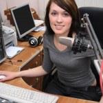 In radio studio — Stock Photo