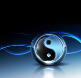 3d yin yang symbol — Stock Photo