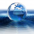 World on water — Stock Photo