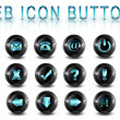Web icons buttons — 图库照片