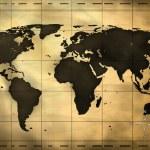 Antike Weltkarte — Stockfoto