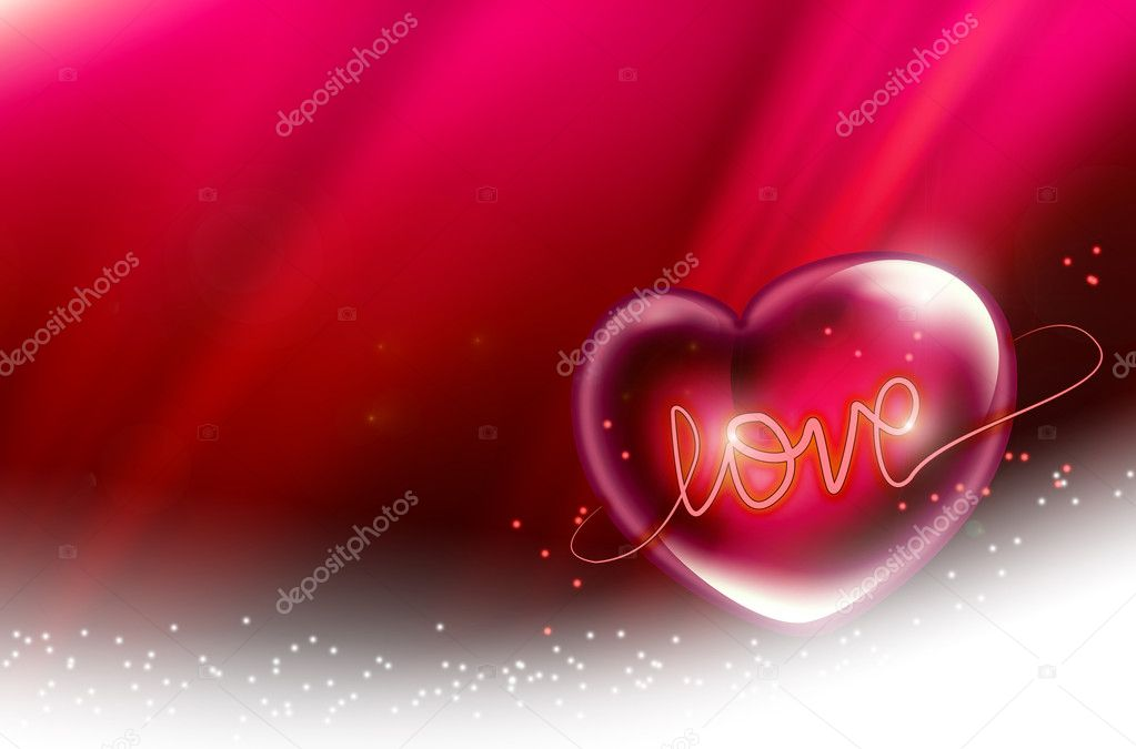 Beautiful pink background with a romantic heart                                — Stock Photo #2168534