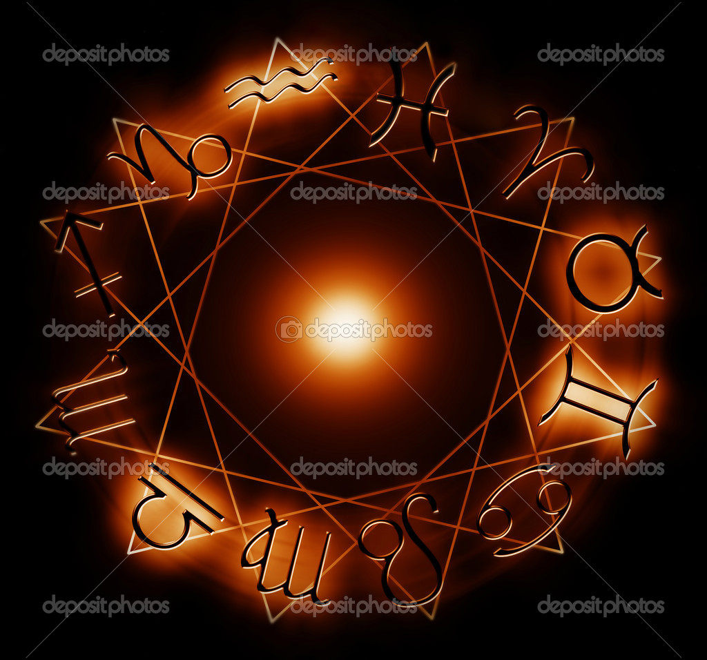 Fire zodiac signs  - computer generated  for your projects — Stock Photo #2169308