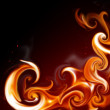 Stock Photo: Flame frame