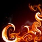 Flame frame — Stock Photo