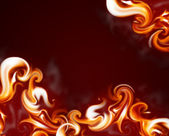 Flame frame — Stock Photo