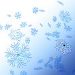 Winter background with snowflakes — Foto de Stock