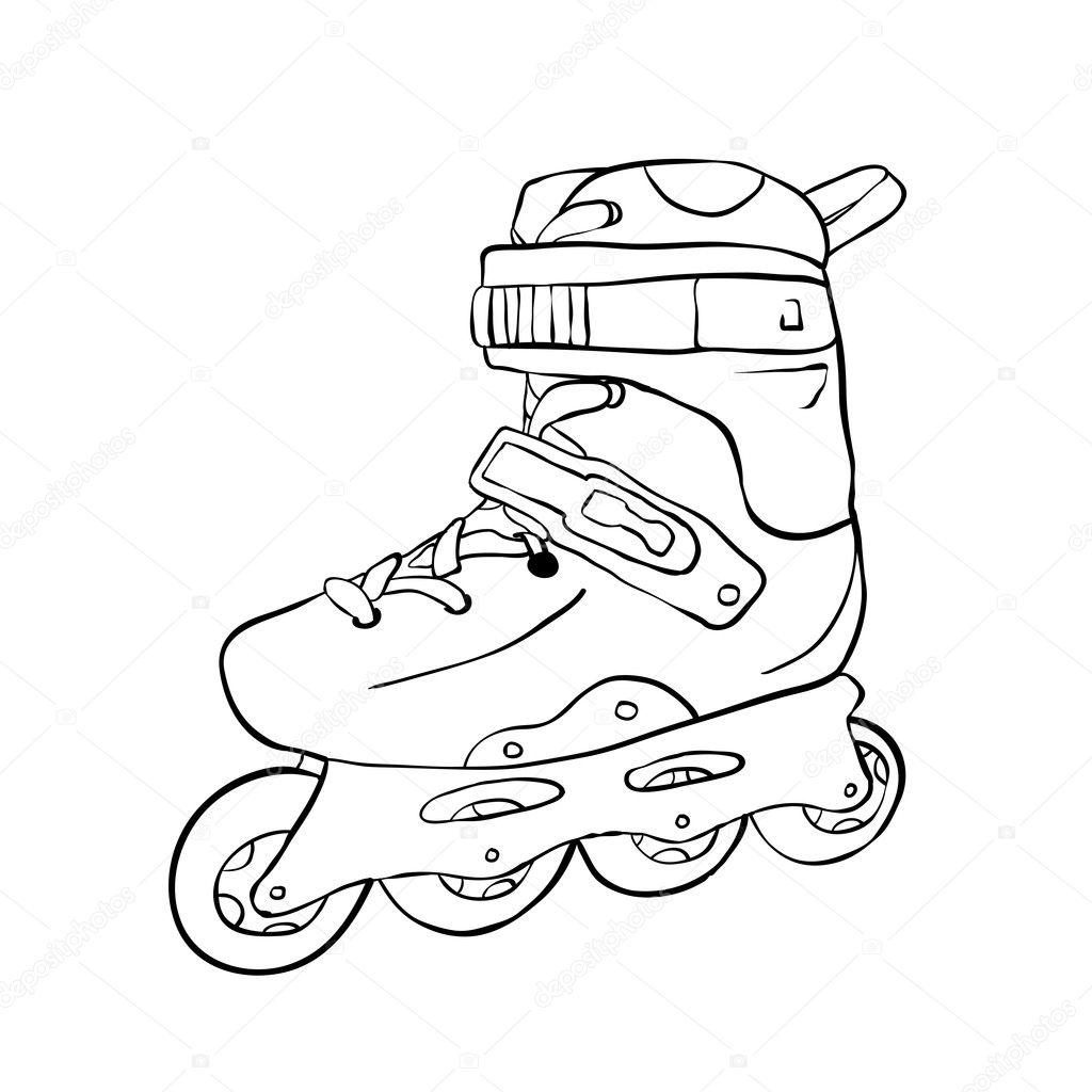 Roller skates book - Roller Skate Stock Vector 2378626