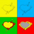 Royalty-Free Stock Vectorafbeeldingen: Heart banners