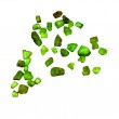 Green crystals — Stock Photo