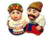Figures of ukrainian family — Stock Photo