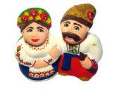 Figures of ukrainian family — Stock Photo