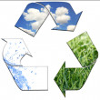 Recycling to Keeping the Environment Cle — Stock Photo