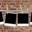 Empty Film Blanks Hanging Against a Grun — Stock Photo