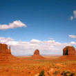 Landscape of Three Monument Valley Butte — Stock Photo
