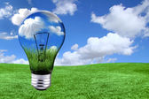 Green Energy Solutions With Light Bulb M — Stock Photo