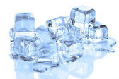 Cool Ice Cubes Melting on a White Refle — Stockfoto