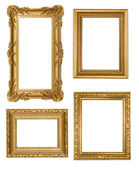 Vintage Detailed Gold Empty Picure Frame — Stock Photo