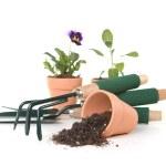 Gardening Tools on White Background — Stock Photo