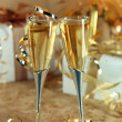 Celebration of an Event With Champagne — Stock Photo