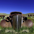 Vintage Rusted Old Car in Bodie Californ - Stock Photo