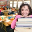 School Age Child Looking Up at Copy Spac — Stock Photo