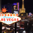Welcome to Las Vegas Nevada - 图库照片