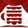 Stock Photo: Theater STage Drape Elements to Create Y