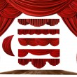 Theater STage Drape Elements to Create Y - Stock Photo