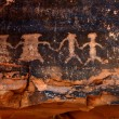 Foto de Stock  : Native AmericPetroglyphs in Red Sands