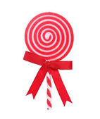 Red and White Holiday Lollipop — Stock Photo